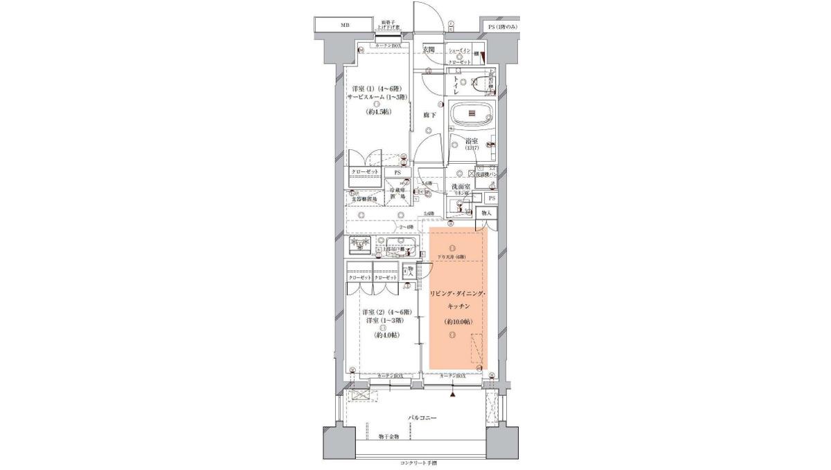 Opus residence Meguro Senzoku(オーパスレジデンスメグロセンゾク)の間取図