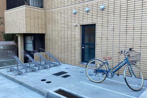 旗の台アパートメントの駐輪場