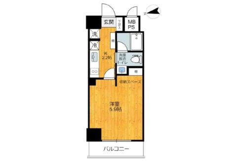 旗の台アパートメントの間取図
