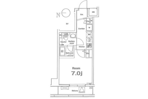premium-cube-oookayama-floor-plan-1f
