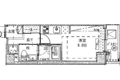 B CITY APARTMENT SHINAGAWA WEST(ビー シティ アパートメント シナガワ ウエスト)の間取図