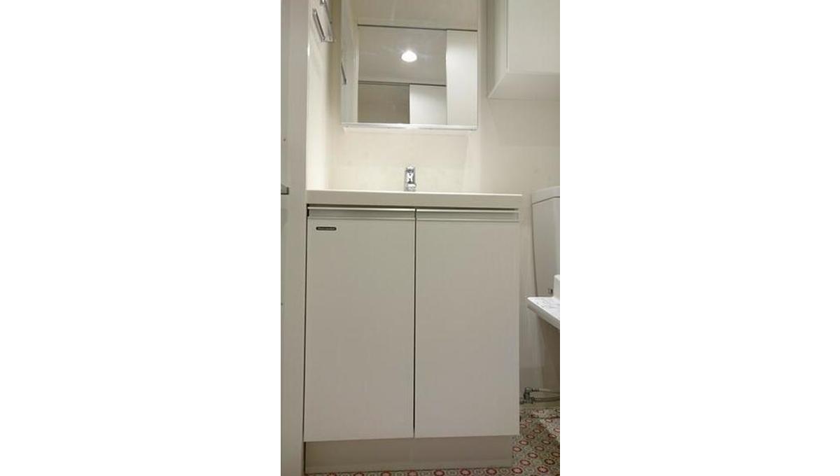 B CITY APARTMENT SHINAGAWA WEST(ビー シティ アパートメント シナガワ ウエスト)の独立洗面化粧台