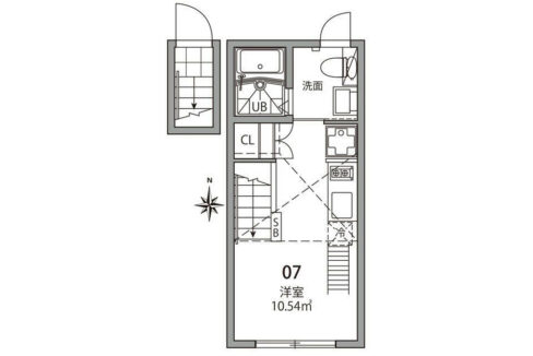 心葉テラス大岡山(オオオカヤマ)の間取図