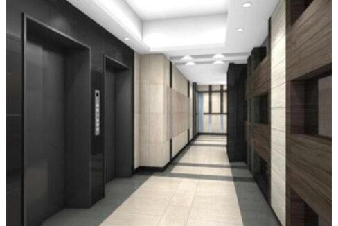 Park Cube 大井町(パークキューブオオイマチ)レジデンスのエレベーターホール