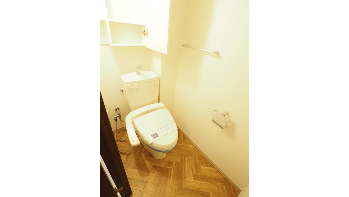 レジディア中延(ナカノブ)のウォシュレット付トイレ