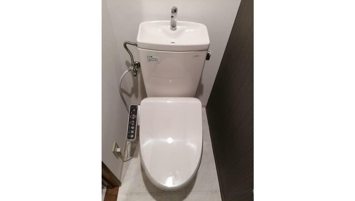 ベルトピア小山(コヤマ)のウォシュレット付トイレ