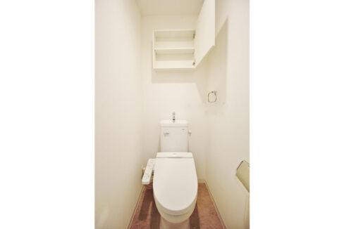 ブランエール戸越(トゴシ)のウォシュレット付トイレ
