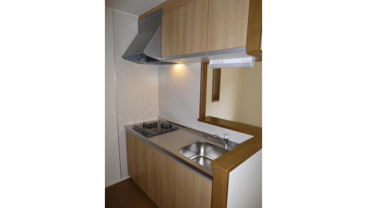 Boasorte Okusawa(ボアソルチ奥沢)の2口ガスカウンターシステムキッチン