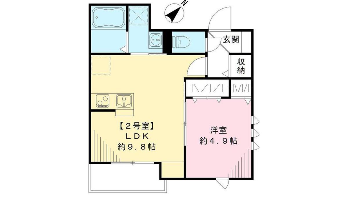 シダーハウス武蔵小山(ムサシコヤマ)の間取図