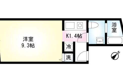 DUO COURT大井(デュオ コート オオイ)の間取図