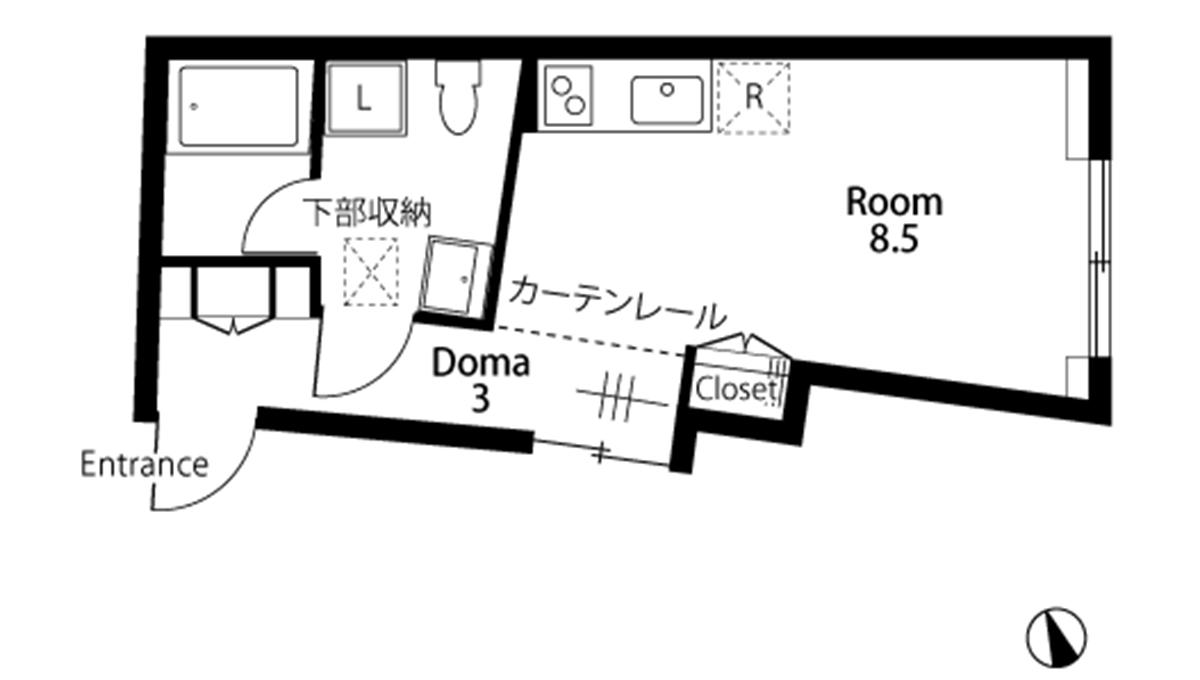 E-1(イーワン)の間取図