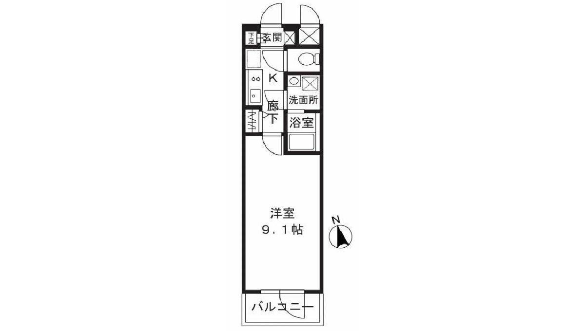 エディアン武蔵小山(ムサシコヤマ)の間取図
