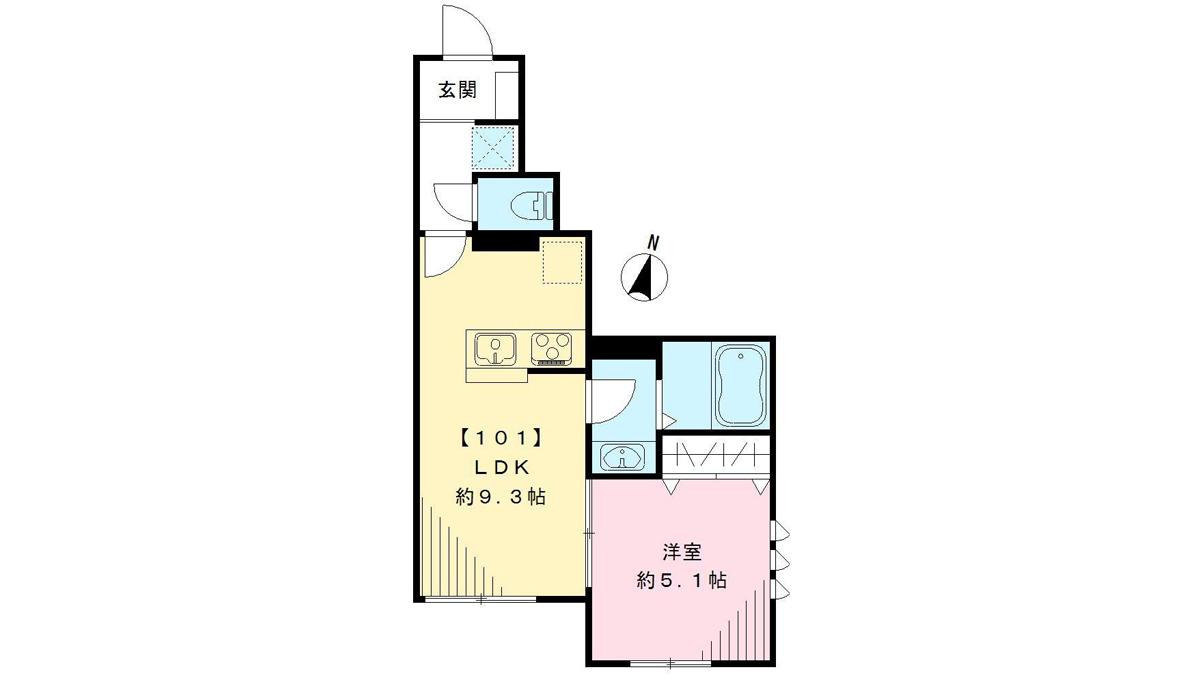 ジャンティブラン奥沢(オクサワ)の間取図