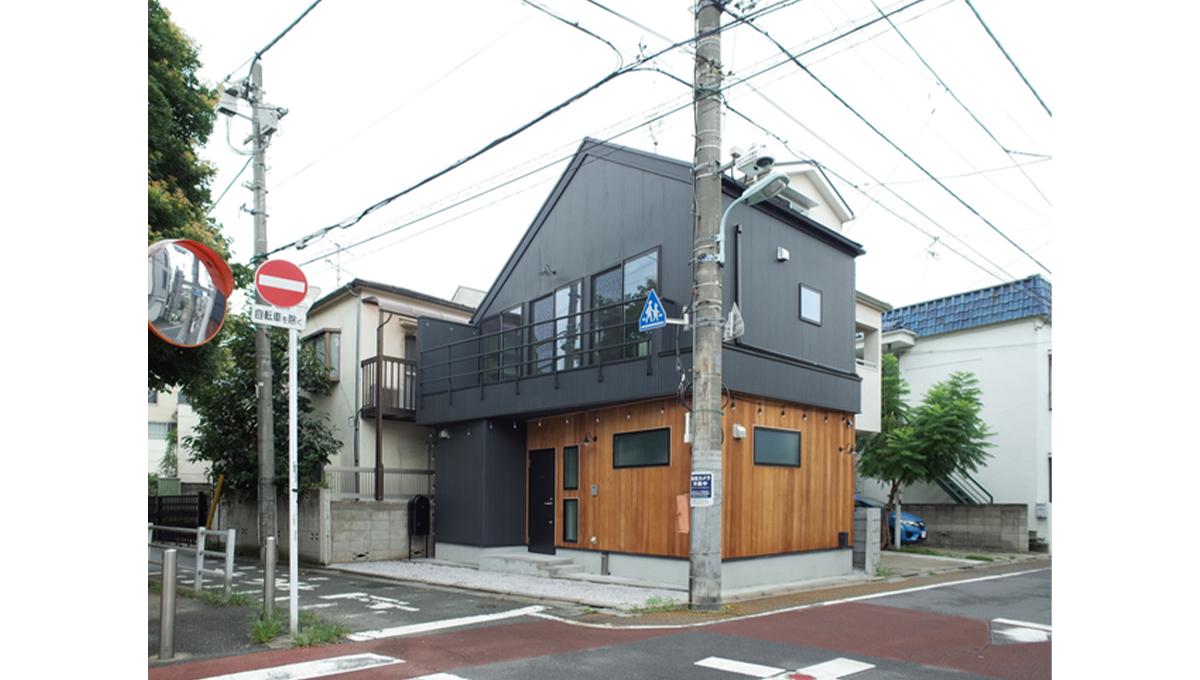 緑道の家の外観