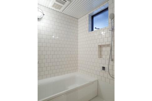 緑道の家のバスルーム