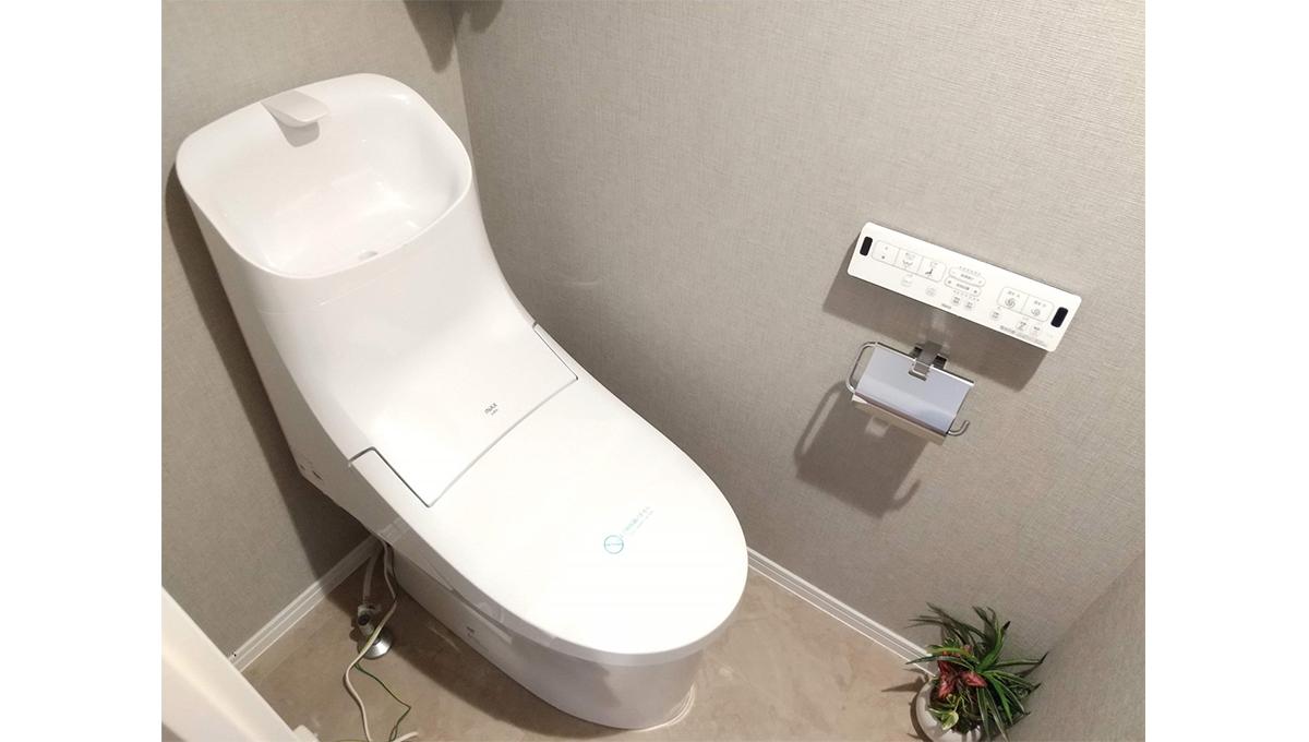 自由が丘フラワーマンション(ジユウガオカ)のウォシュレット付トイレ