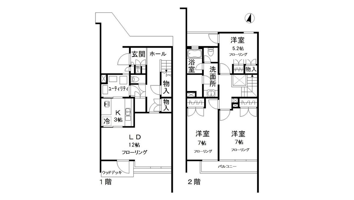 上池台テラス(カミイケダイ)の間取図