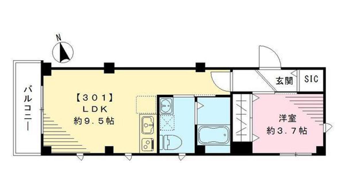 ラシーネ武蔵小山(ムサシコヤマ)の間取図