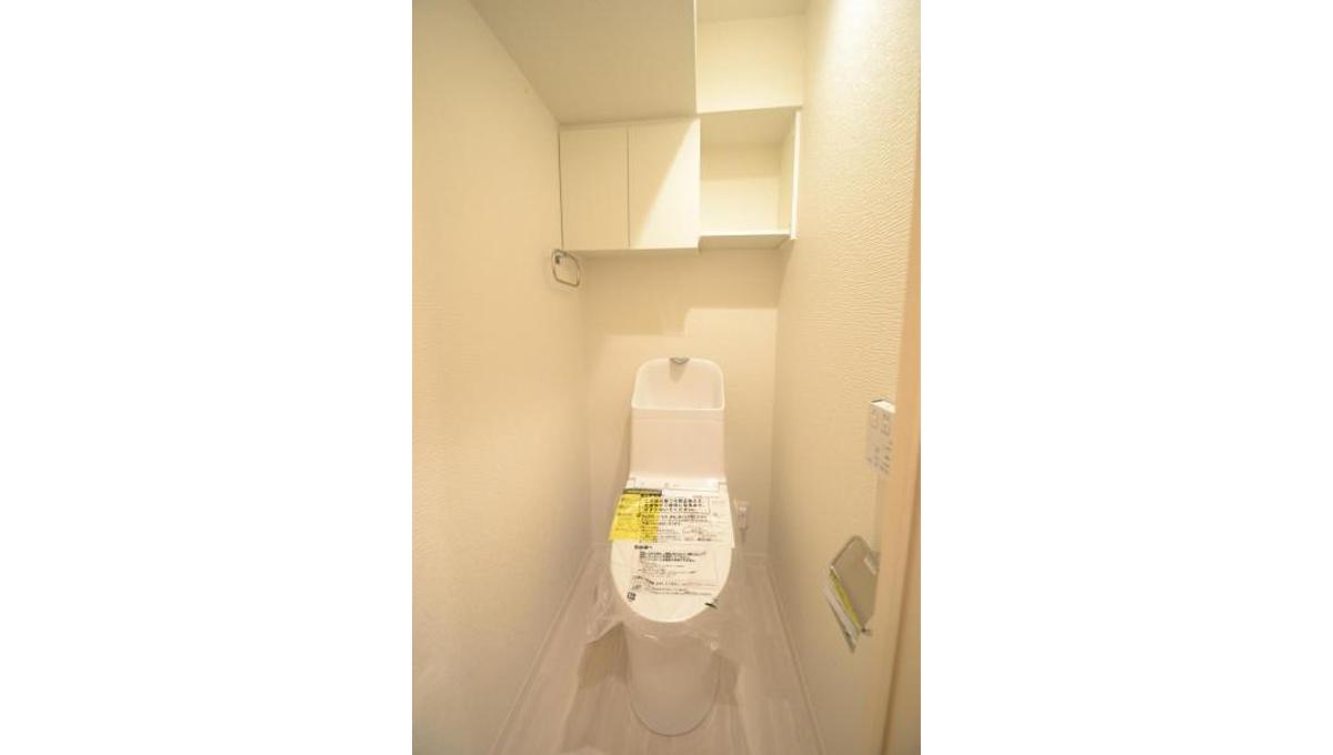 ライオンズマンション西中延(ニシナカノブ)のウォシュレット付トイレ