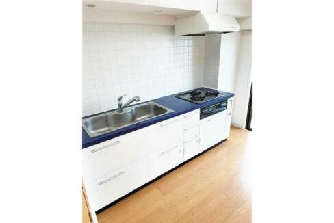 スタジオスクエア洗足(センゾク)の3口ガスシステムキッチン