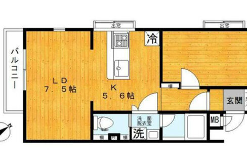 戸越公園アパートメント(トゴシコウエン)の間取図