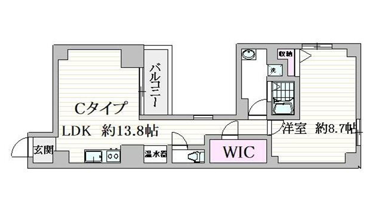 VISTA戸越(ビスタトゴシ)の間取図