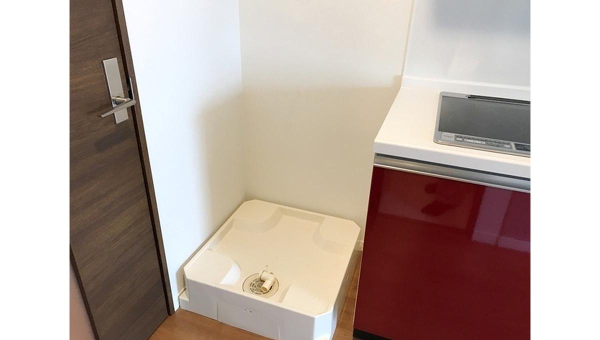 ウェルスクエアイズム奥沢(オクサワ)の洗濯機置場