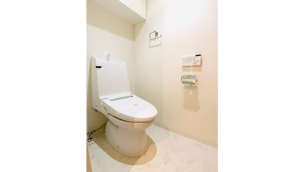 アパートメンツ不動前(フドウマエ)のウォシュレット付トイレ