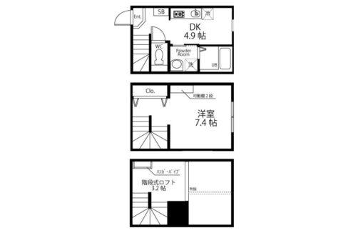 ハーミットクラブハウスMIE(ミエ)の間取図