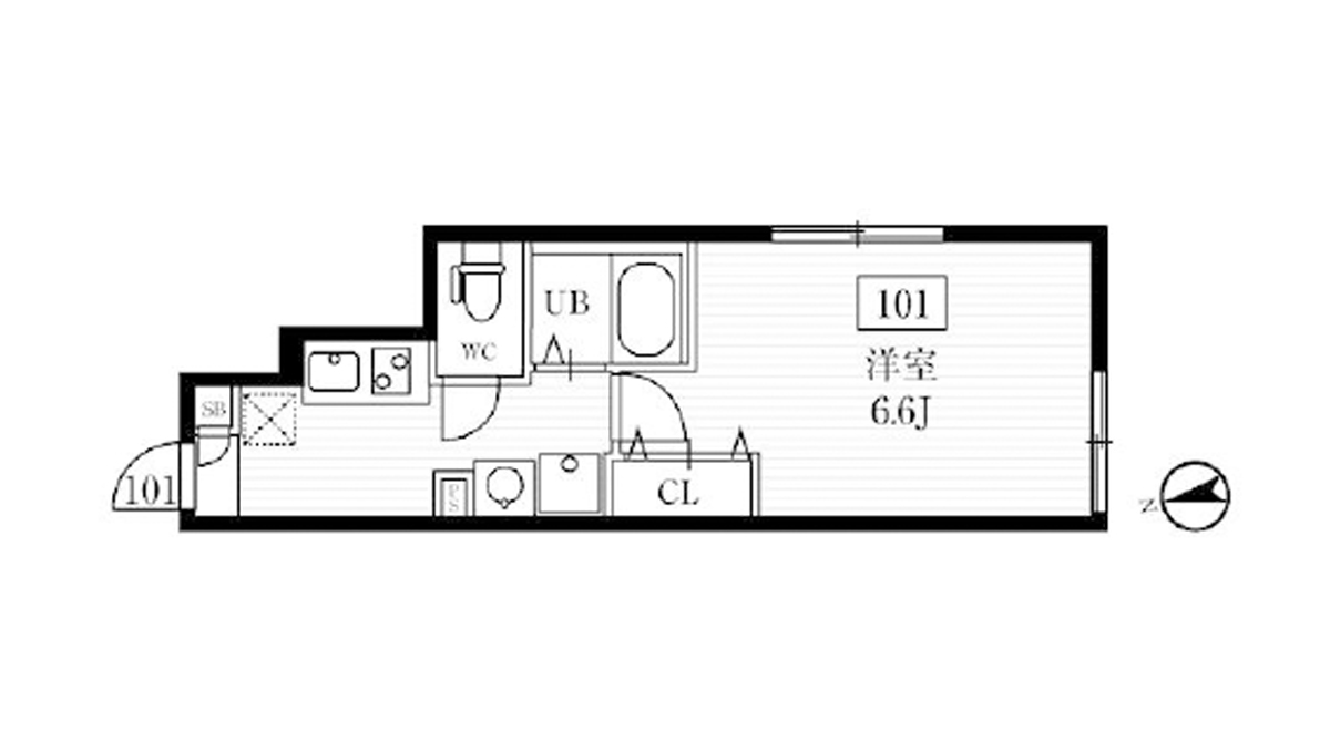 ミハス西小山(ニシコヤマ)の間取図