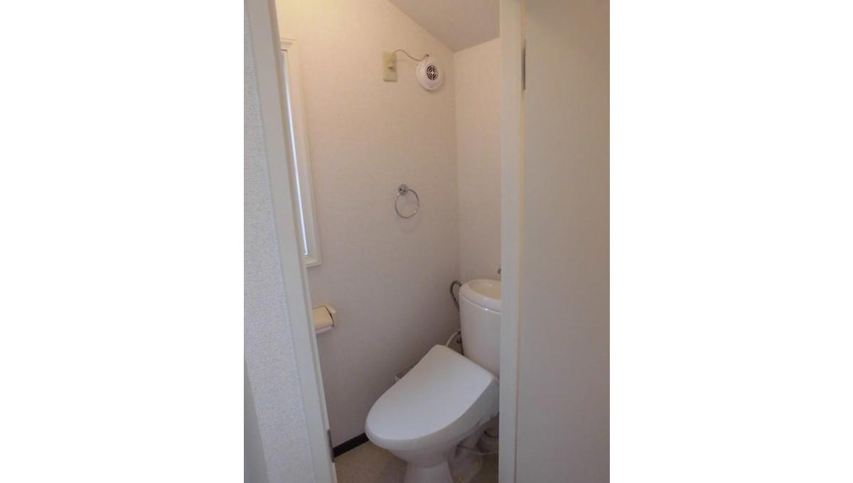 中根二丁目アパート(ナカネ ニチョウメ)のウォシュレット付トイレ
