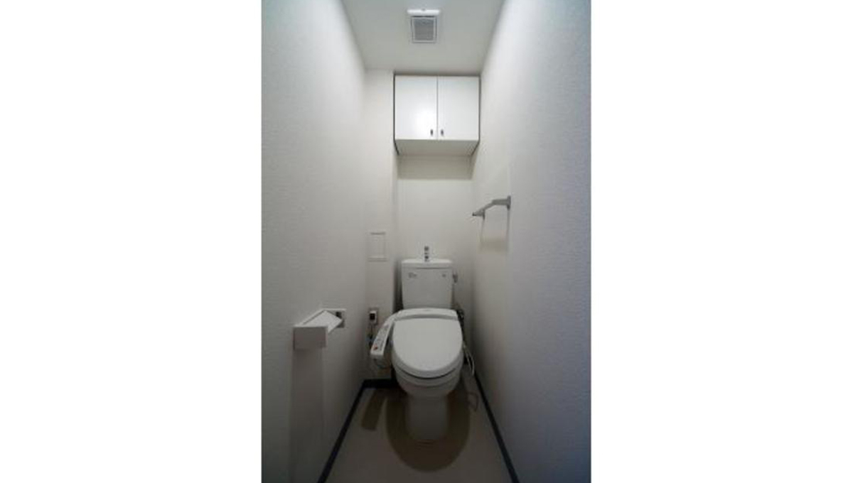 洗足第2マンション(センゾク)のウォシュレット付トイレ