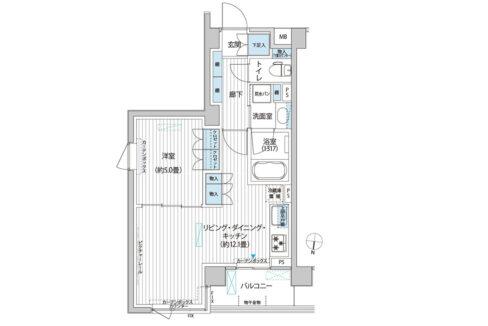 カスタリア 目黒平町( メグロタイラマチ )の間取図