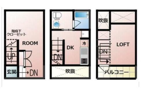 K1 TOWN( ケイワン タウン)の間取図