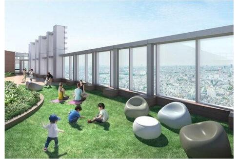 パークシティ武蔵小山ザ・タワー(ムサシコヤマ)の庭園