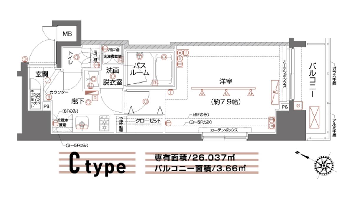 ZOOM 都立大学( ズーム トリツダイガク )の間取図