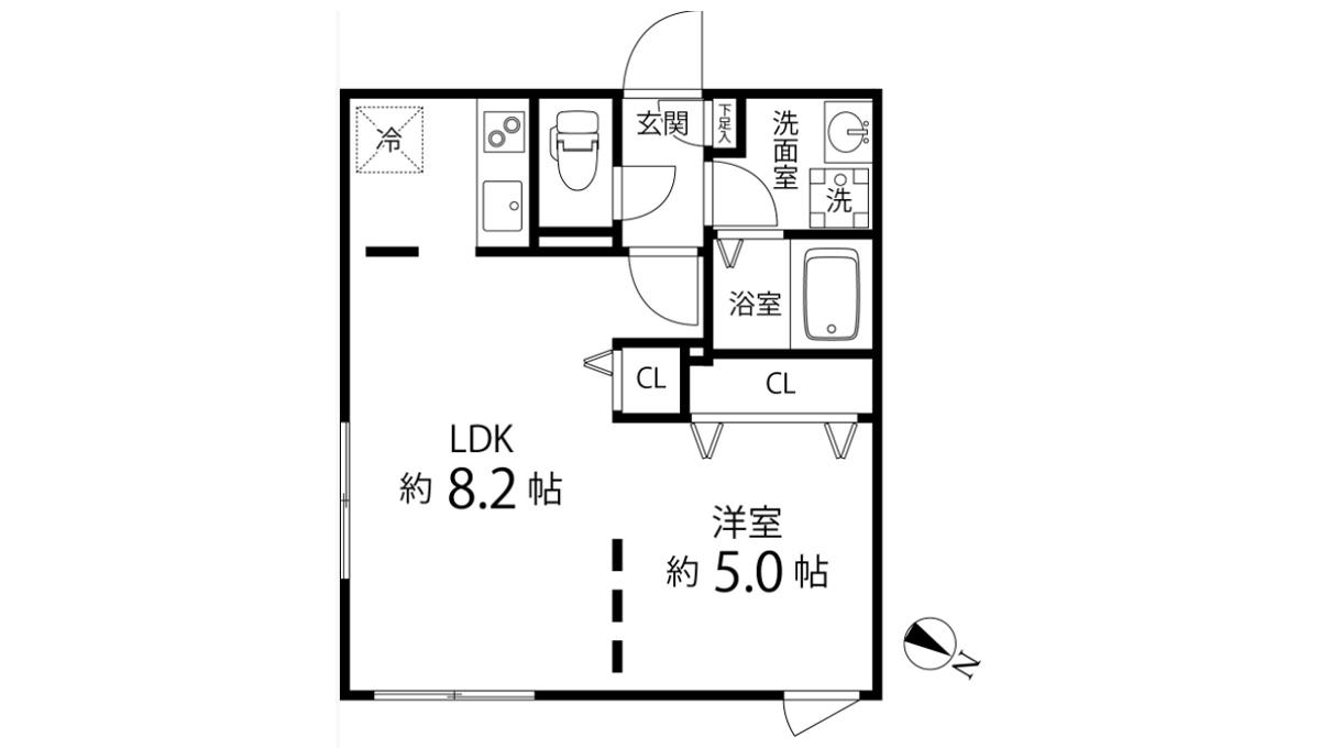 Branche 目黒(ブランシェ メグロ)の間取図