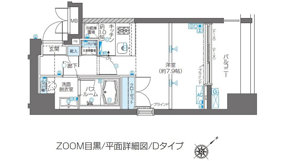 ZOOM 目黒(ズーム メグロ )の間取図