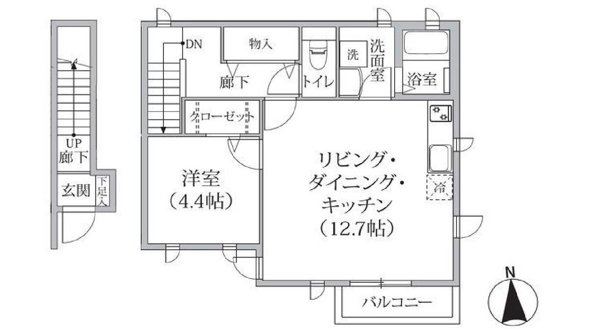 Ark 奥沢 B棟( アーク オクサワ )の間取図