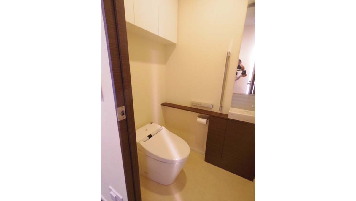 二子玉川ライズ タワー&レジデンス タワーセントラルのウォシュレット付トイレ