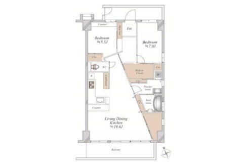 尾山台 HOUSE( オヤマダイ ハウス)の間取図
