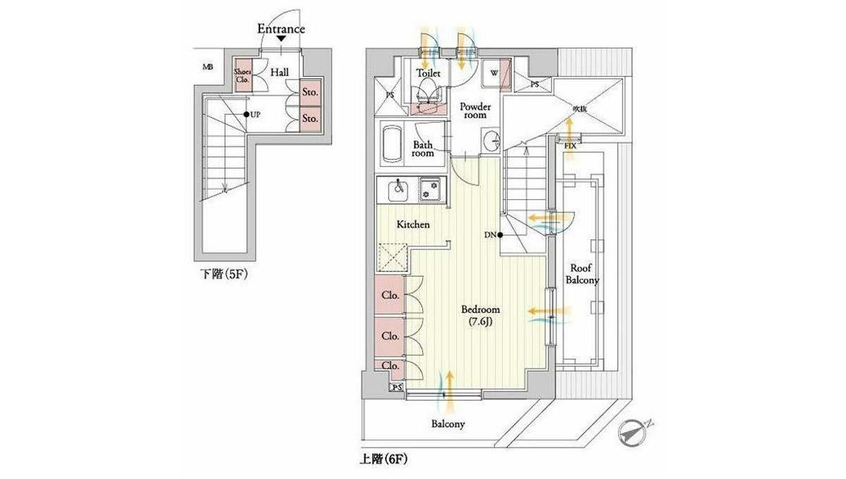 プラチナ コート 祐天寺( ユウテンジ )の間取図