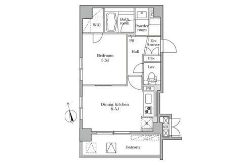 レジディア 大井町Ⅱ( オオイマチ 2)の間取図