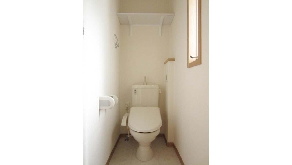 テラス アルビレオのウォシュレット付トイレ