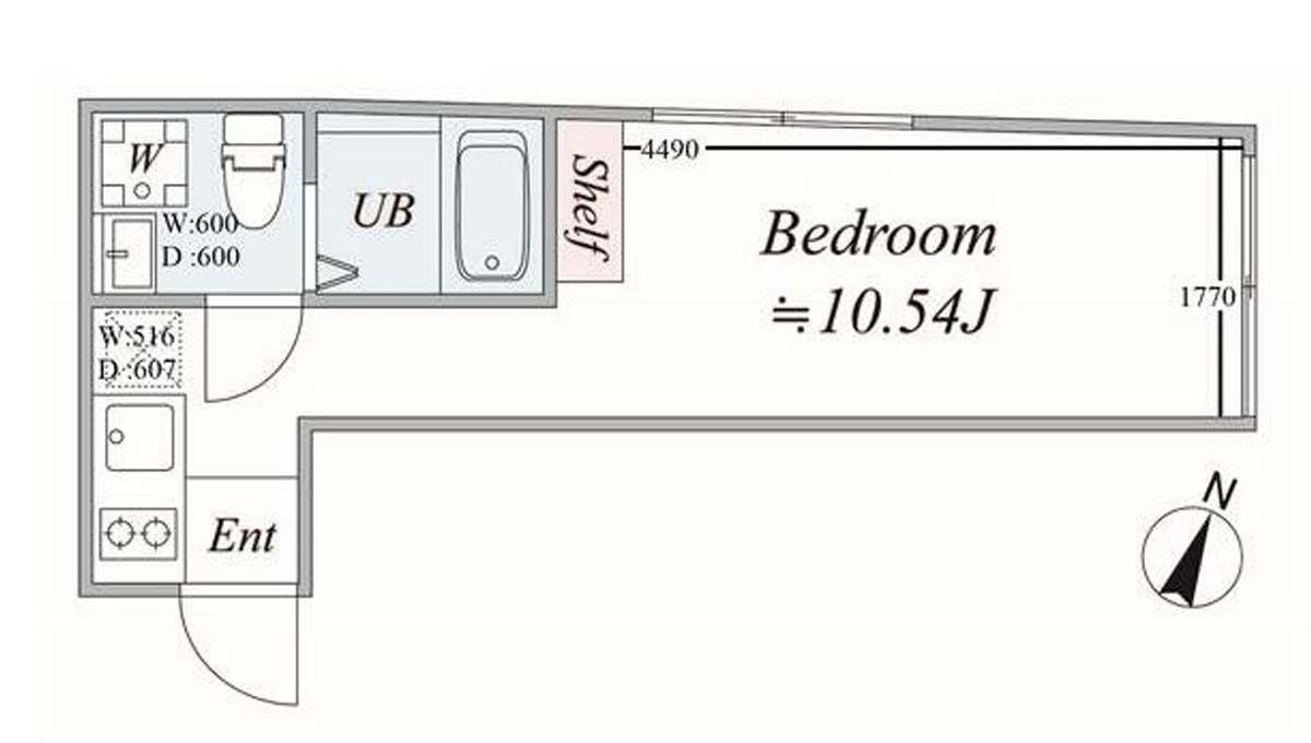 TRIAS216(トリアス)の間取図
