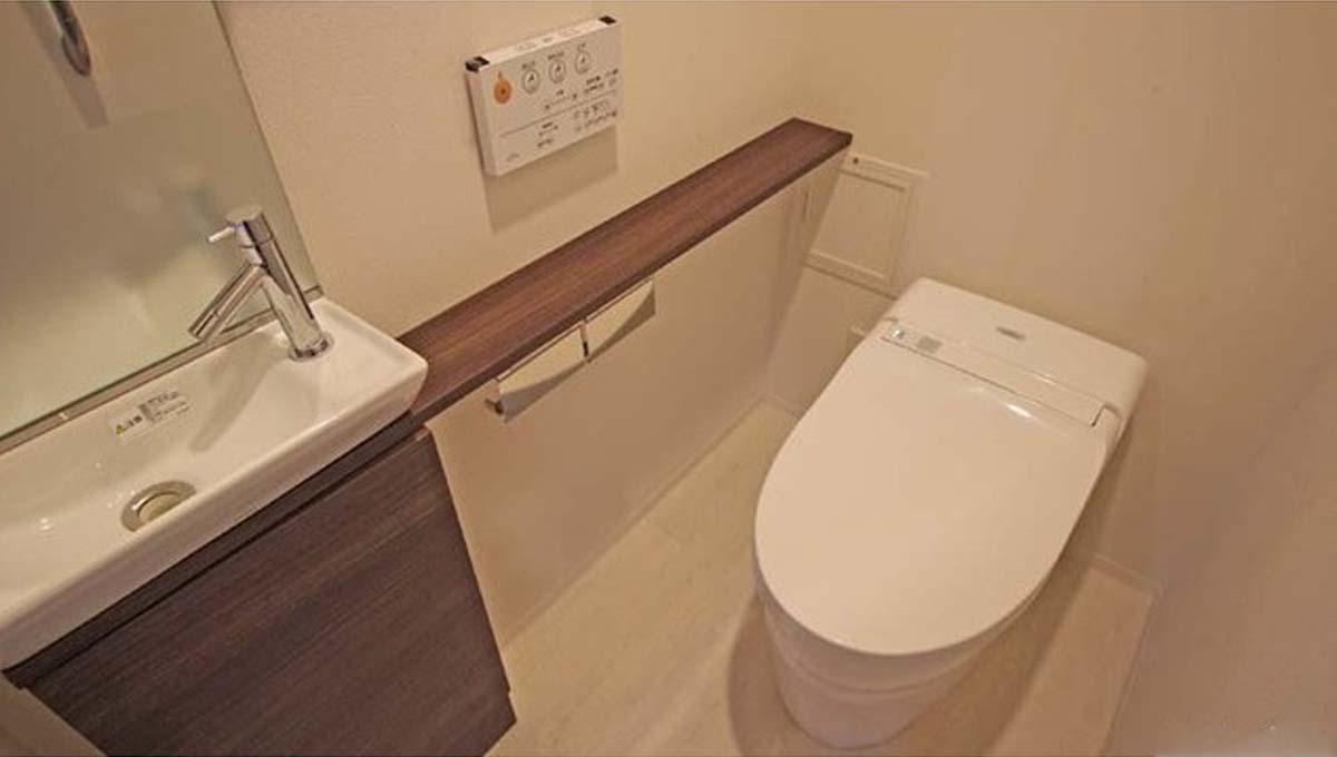 ドレッセ 南雪谷 ( ミナミユキガヤ )のウォシュレット付トイレ