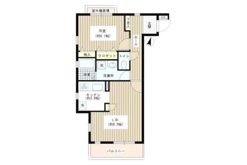 洗足第2マンション(センゾク)の間取図