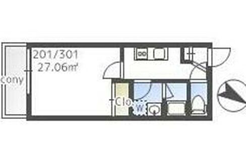 THE CLASS EX Residence( ザ クラス イーエックス レジデンス )の間取図
